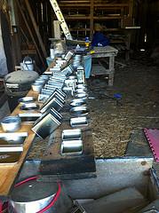 tin boxes transformed into pinhole cameras