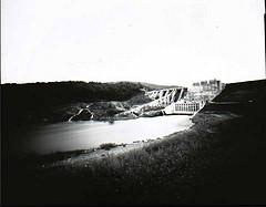 pinhole camera image of Wyman Dam