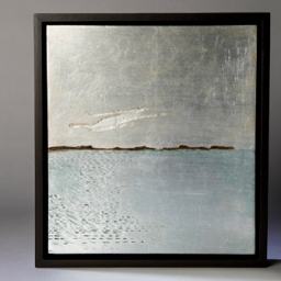 Off Port Clyde: aluminum leaf, oils