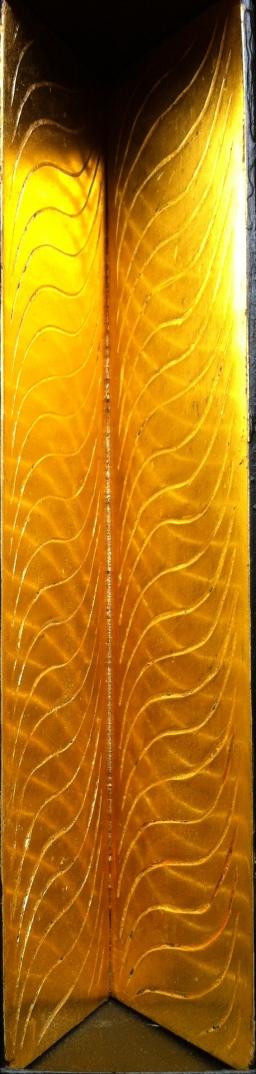 Cascade: 23 karat burnished gold leaf