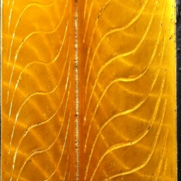 Cascade: 23 karat burnished gold leaf