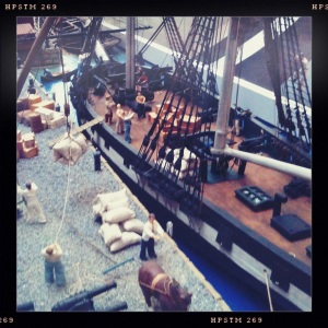 Detail of the Diorama at Salem Massachusetts Visitors Center