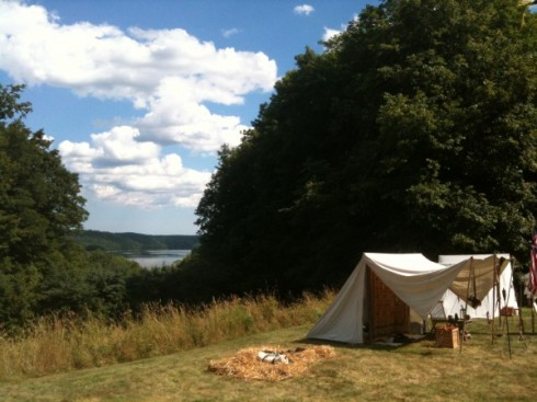 Kennebec River from the encampment