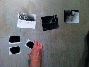 after the first round of shooting I demonstrated how to develop the negatives. The group then developed their first batch of test images to see if their exposure times were on track