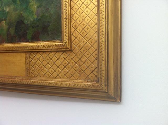 gold leaf, harer, frame