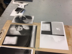 I provided each of the students with a set of pinhole cameras pre-loaded with photographic paper negatives. They went out after school and took images of their homes. The second day of the program we developed the negatives and made contact prints